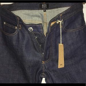 BRAND NEW W/ TAGS!! A.P.C Raw selvedge jeans.
